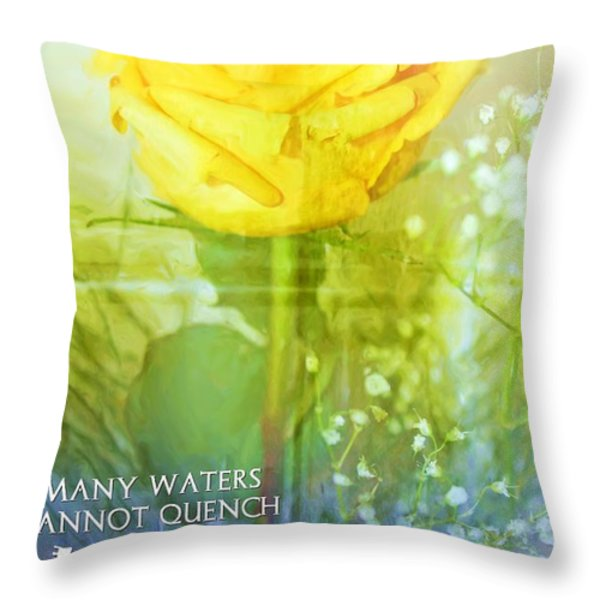 Song of Solomon 8 7 Throw Pillow by Michelle Greene Wheeler