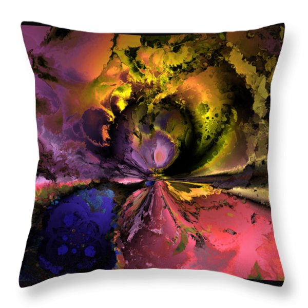 Song Of The Cosmos Throw Pillow by Claude McCoy