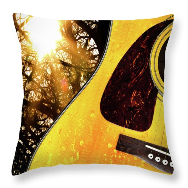 Songs From The Wood Throw Pillow by Bob Orsillo