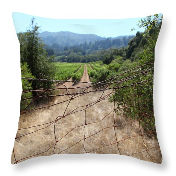 Sonoma Vineyards In The Sonoma California Wine Country 5d24520 Throw Pillow by Wingsdomain Art and Photography