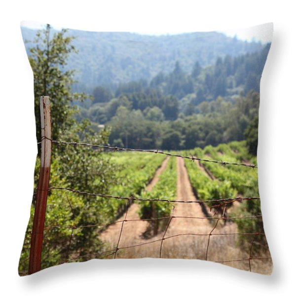 Sonoma Vineyards In The Sonoma California Wine Country 5d24521 Throw Pillow by Wingsdomain Art and Photography