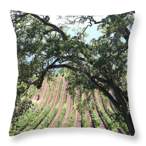 Sonoma Vineyards In The Sonoma California Wine Country 5d24619 Vertical Throw Pillow by Wingsdomain Art and Photography