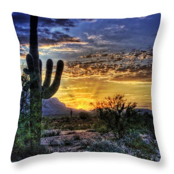 Sonoran Sunrise  Throw Pillow by Saija  Lehtonen
