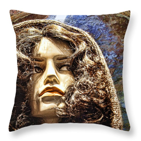 Sophia Throw Pillow by Chuck Staley