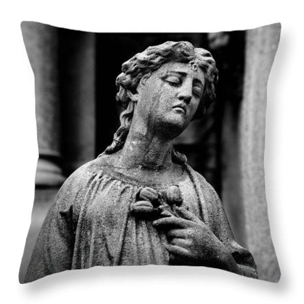 Sorrow Allegheny Cemetery Pittsburgh  Throw Pillow by Amy Cicconi