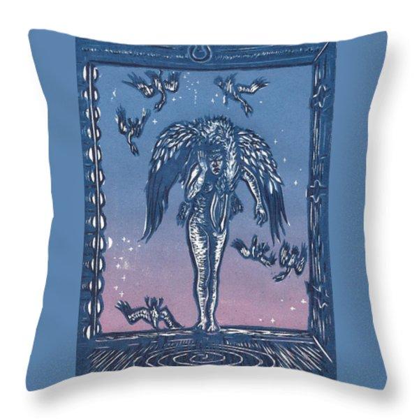 Sorrow Throw Pillow by Dawn Senior-Trask