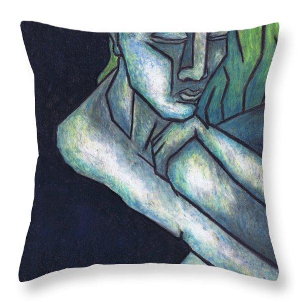 Sorrow Throw Pillow by Kamil Swiatek