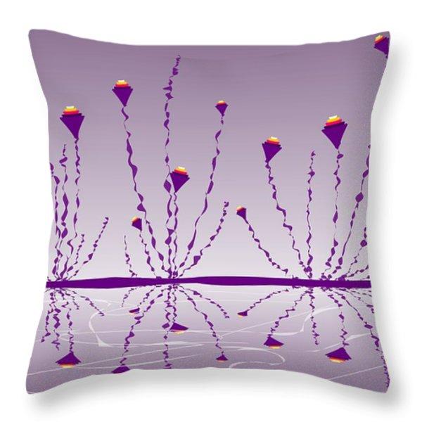 Soul Flowers Throw Pillow by Anastasiya Malakhova