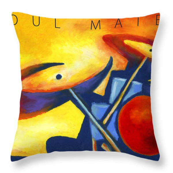 Soul Mates Poster Throw Pillow by Stephen Anderson