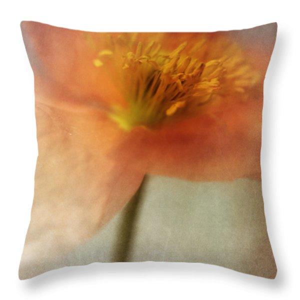 Soulful Poppy Throw Pillow by Priska Wettstein