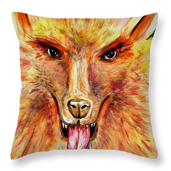 Soundhound Throw Pillow by Daniel Janda