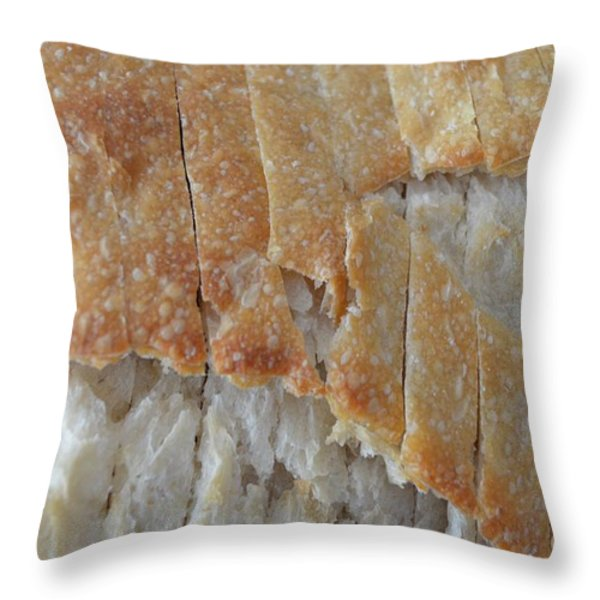 Sourdough Crust Throw Pillow by Mary Deal