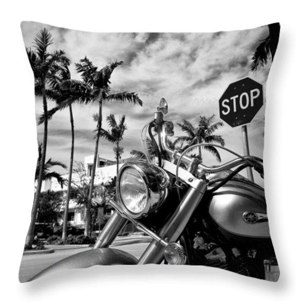 South Beach Cruiser Throw Pillow by Dave Bowman