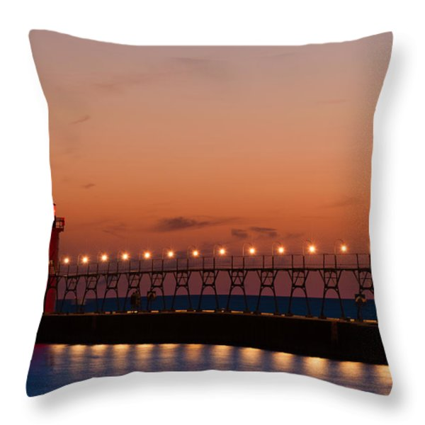South Haven Reflection Throw Pillow by Sebastian Musial