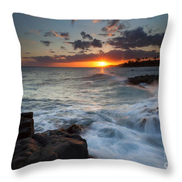 South Shore Waves Throw Pillow by Mike  Dawson