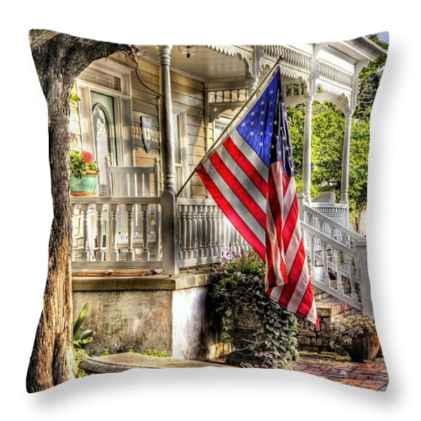 Southern Charm Throw Pillow by Benanne Stiens