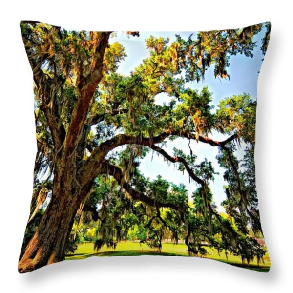Southern Comfort painted Throw Pillow by Steve Harrington