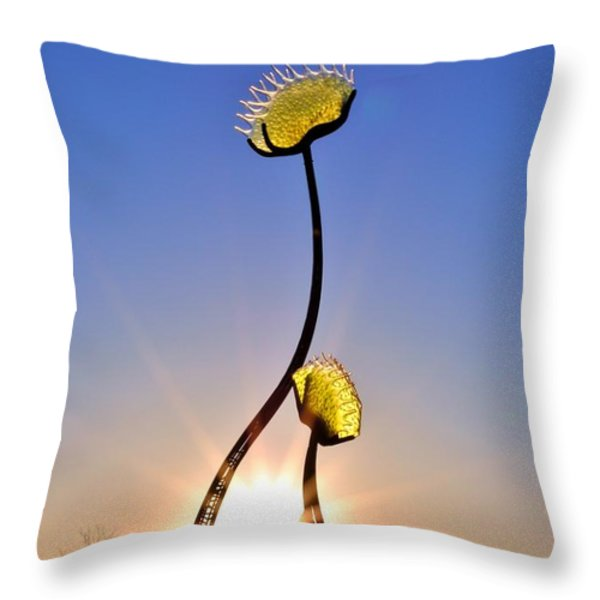 Southern Hospitality Sculpture Throw Pillow by Kelly Nowak