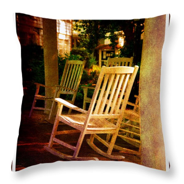 Southern Sunday Afternoon Throw Pillow by Susanne Van Hulst