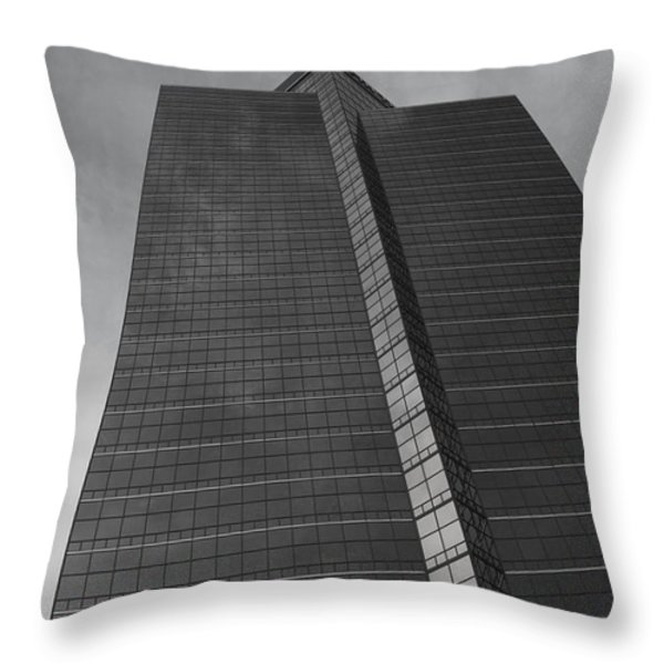 Southfield Hi Rise Black And White Throw Pillow by Bill Woodstock