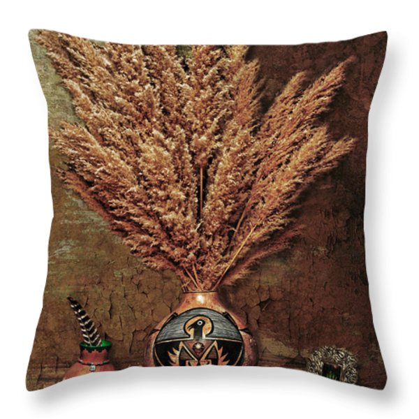 Southwest Rustic Throw Pillow by Karen Slagle