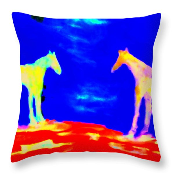 Space For Us Throw Pillow by Hilde Widerberg