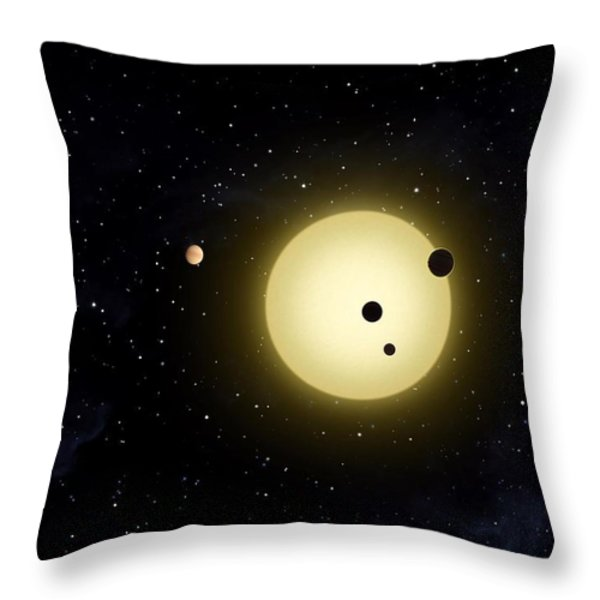 Space Kepler 11 Introduction Throw Pillow by Movie Poster Prints