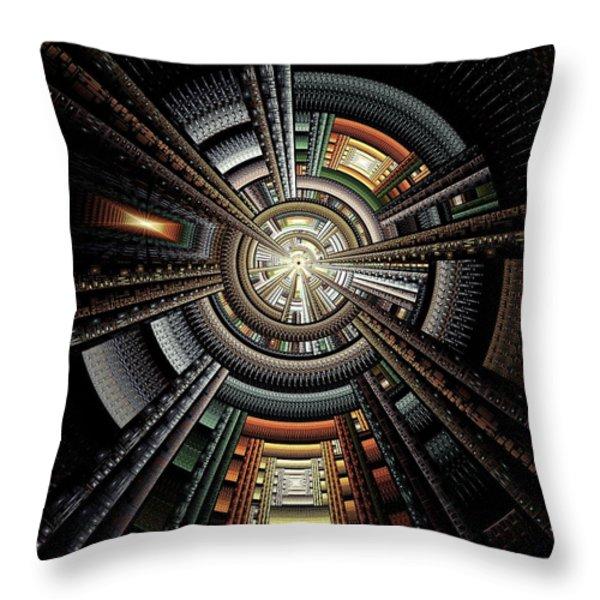 Space Station Throw Pillow by Anastasiya Malakhova