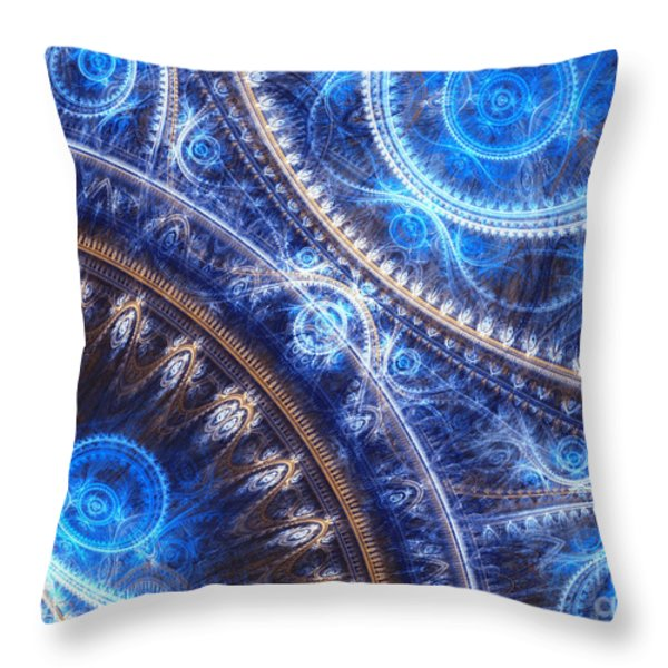 Space-time Mesh Throw Pillow by Martin Capek