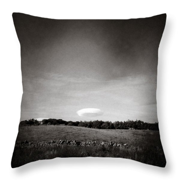 Spaceship Throw Pillow by Dave Bowman