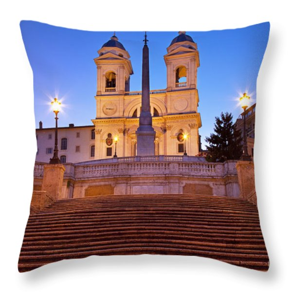 Spanish Steps Dawn Throw Pillow by Brian Jannsen