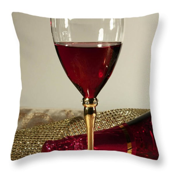 Sparkling Wine for One Throw Pillow by Inspired Nature Photography By Shelley Myke