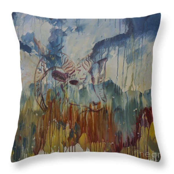 Spearfish Canyon Throw Pillow by Avonelle Kelsey