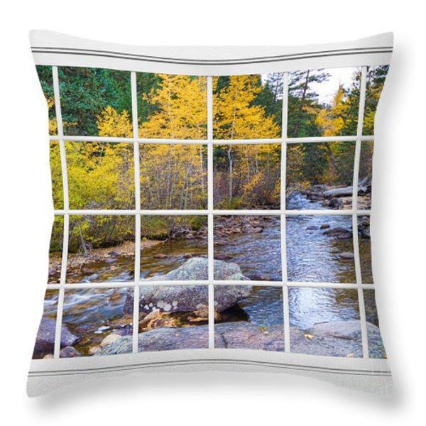 Special Place in the Woods Large White Picture Window View Throw Pillow by James BO  Insogna