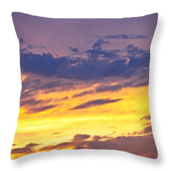 Spectacular sunset Throw Pillow by Elena Elisseeva