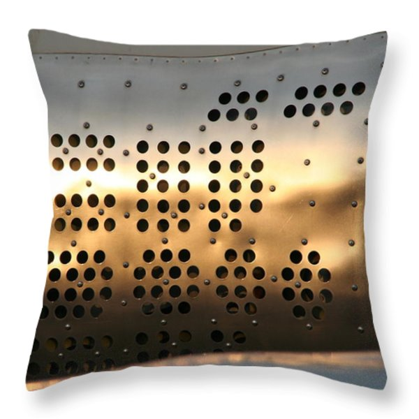 speed brake Throw Pillow by David S Reynolds