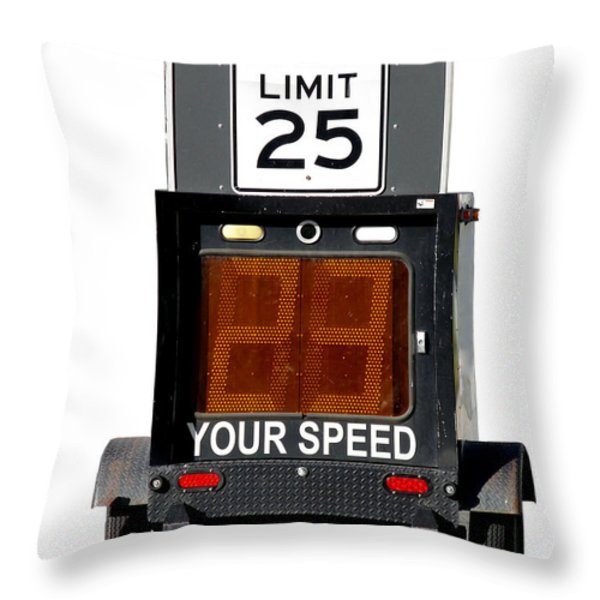 Speed Limit Monitor Throw Pillow by Olivier Le Queinec