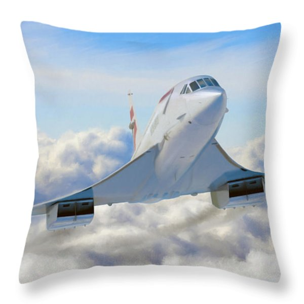 Speeding Above the Clouds Throw Pillow by Dale Jackson