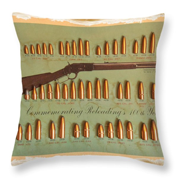 Speer Bullets Throw Pillow by Cheryl Young