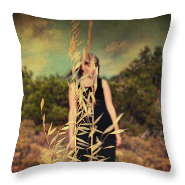 Spell Throw Pillow by Taylan Soyturk