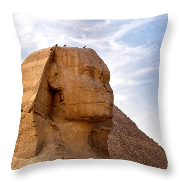 Sphinx Egypt Throw Pillow by Jane Rix