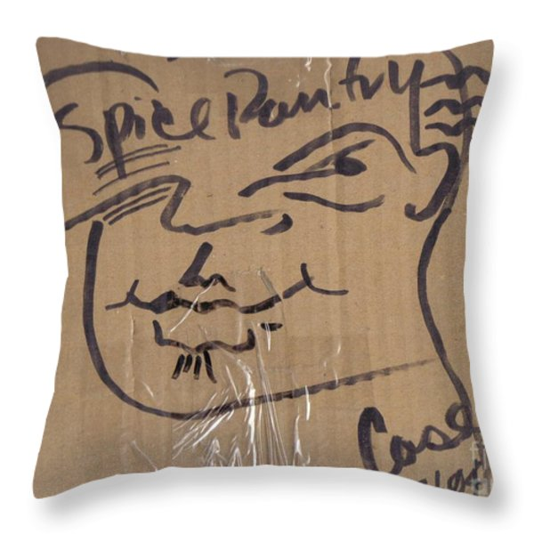 Spice Pantry Throw Pillow by Feile Case
