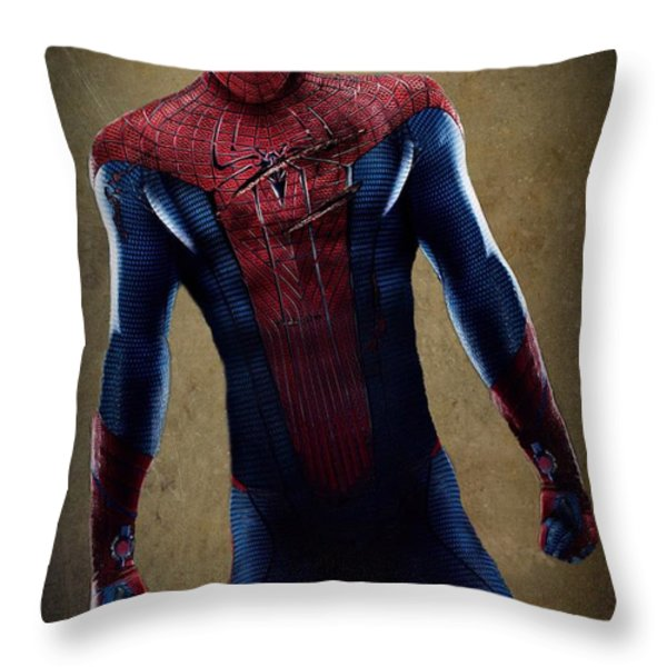 Spider-Man 2.1 Throw Pillow by Movie Poster Prints