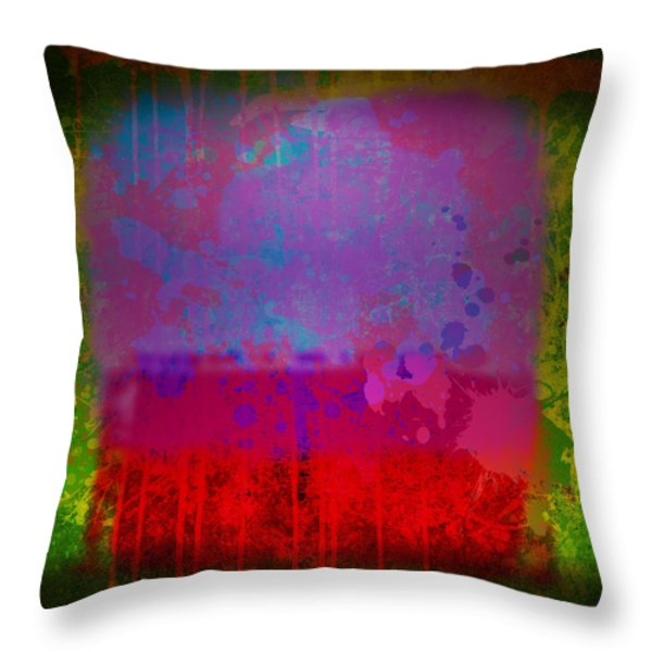 Spills and Drips Throw Pillow by Gary Grayson