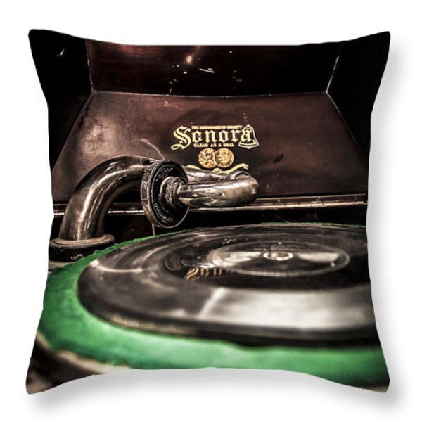 Spin That Record Throw Pillow by Darcy Michaelchuk