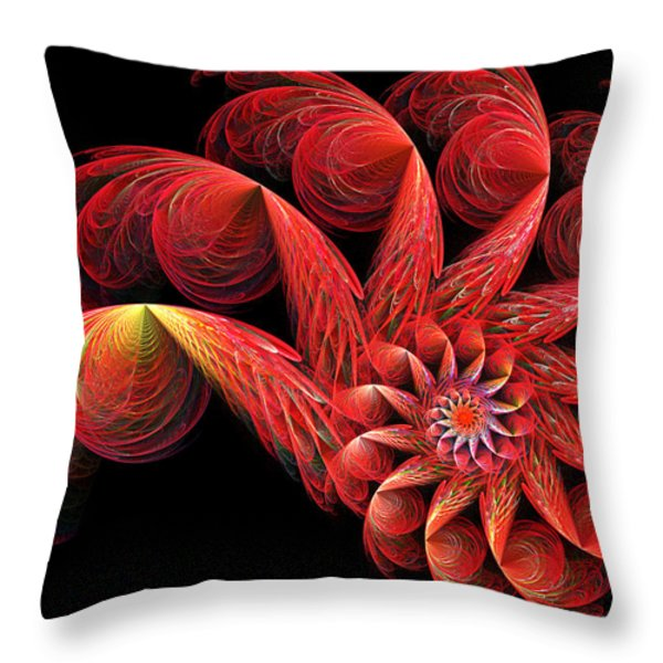 Spinning Throw Pillow by Sandy Keeton