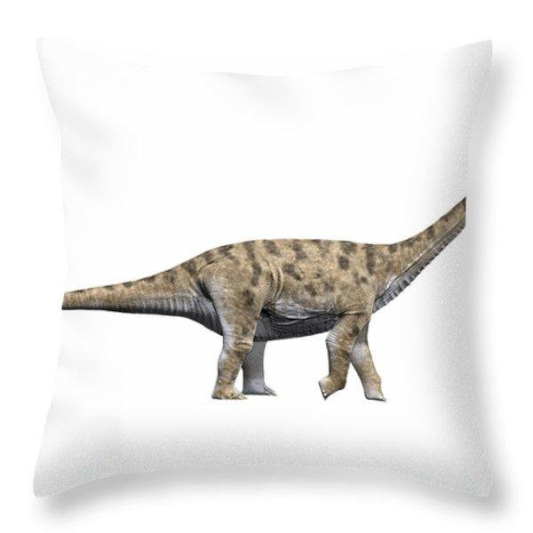 Spinophorosaurus Nigerensis, Middle Throw Pillow by Nobumichi Tamura
