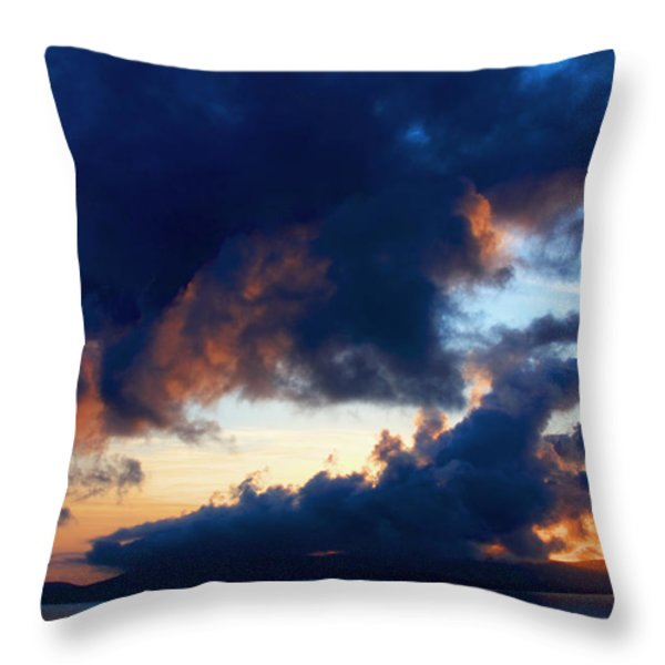 Spiral Clouds Throw Pillow by Aidan Moran