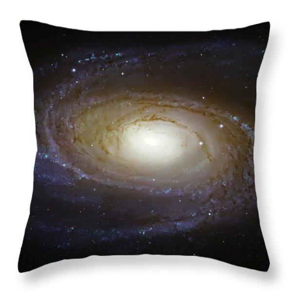 Spiral Galaxy M81 Throw Pillow by The  Vault - Jennifer Rondinelli Reilly