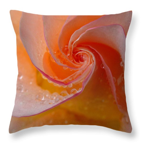 Spiral Rose Throw Pillow by Juergen Roth